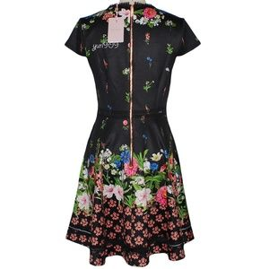 85fe6a00526aab Ted Baker Dresses - Ted Baker London Black Daissie Florence Trim Dress